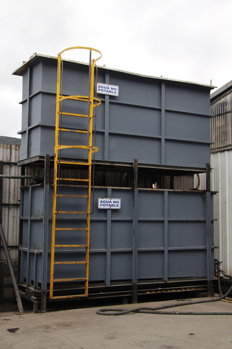 bateas acumuladoras de agua de lluvia Sanatorium